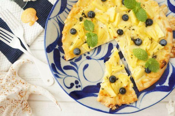 甘酸っぱい夏のフルーツ~パイナップルのデザートピザ